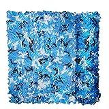 FUZKI Red de camuflaje 1,5 m, 2 m, 3 m, 4 m, 5 m, 6 m, 7 m, 8 m, 9 m, 10 m, 15 m, 20 m, red de camuflaje sin rejilla, para niños, militar, protección solar, para cacería, tiro, decoración de jardín militar, parasol de fotografía, Infantil, azul, 1.5x5M=4.9x16.4ft