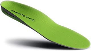 Superfoot Plantar Insoles, Orthotic Insert for Maximum Arch Support, Shock Absorption Insoles for High Arches, Flat Feet Foot Pain, Unisex, Green, 1 Pair (C: Women's 6.5-8 / Men's 5.5-7.5)