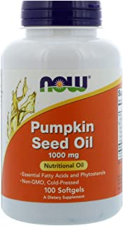 Now Foods Pumpkin Seed Oil 1000mg Soft-gels. 100-Count