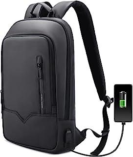 Sac à Dos Ordinateur Portable Imperméable 15.6Pouces pour Homme Sac Femme Léger avec USB Charging Port Sac à Dos d'affaire...