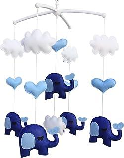 Bébé berceau mobile musical, [éléphant] garçons/filles jouets tissus non tissé