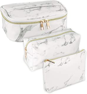 Best white marble makeup bag Reviews