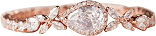 Cubic Zirconia Teardrop Tennis Bracelets for Wedding Bridal Jewelry, Crystal Rhinestone Bracelets for Brides, Bridesmaid, Women