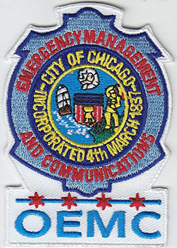Embroidered Patch OEMC Chicago IL Illinois Emergency Management Communications 10 Patches Police Made in The USA