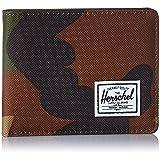 Herschel Supply Co Men's Roy Bi-Fold Fabric Wallet - Woodland Camo