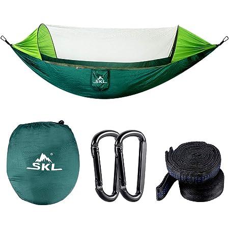 Details about  /Portable Mesh Nylon Hanging Hammock Outdoor Camping Hiking Travel Hammock