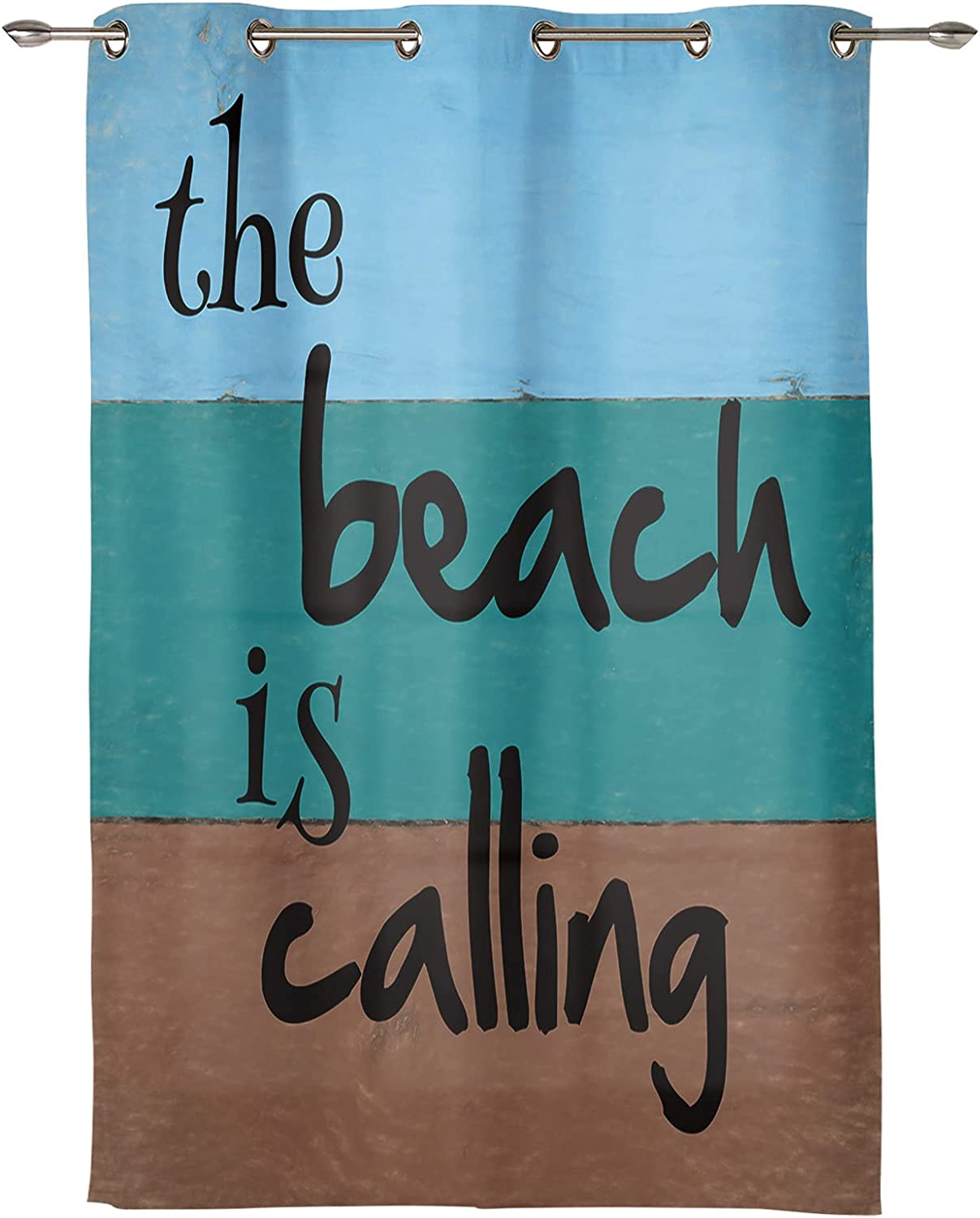 The Large discharge sale Some reservation Beach is Calling Summer Curtain Grommet Stripes Home Decor