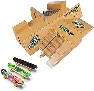 Skate Park Kit, Hometall 8PCS Skate Park Kit Ramp Parts for Finger Skateboard Ultimate..
