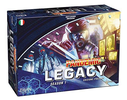 Asmodee - Pandemic Legacy: Season 1, Brettspiel, Ausgabe in Italienisch, Farbe Blau, 8385