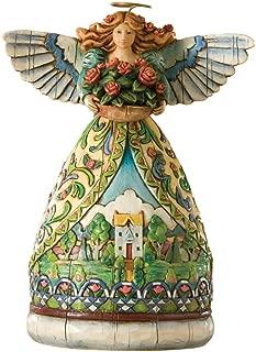 Enesco Jim Shore Heartwood Creek 4-Seasons Mini Angel with Summer Scene Figurine, 4-1/2-Inch
