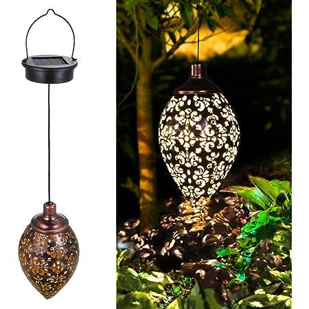 Solar Power LED Lantern Garden Hanging Lamp Lawn Landscape Light Decor V7I0