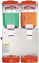 CLING Dubbel cylinder dryckesautomat fruktjuicemaskin kommersiell kall och varm dubbel temperatur rostfritt stål matkvalit...