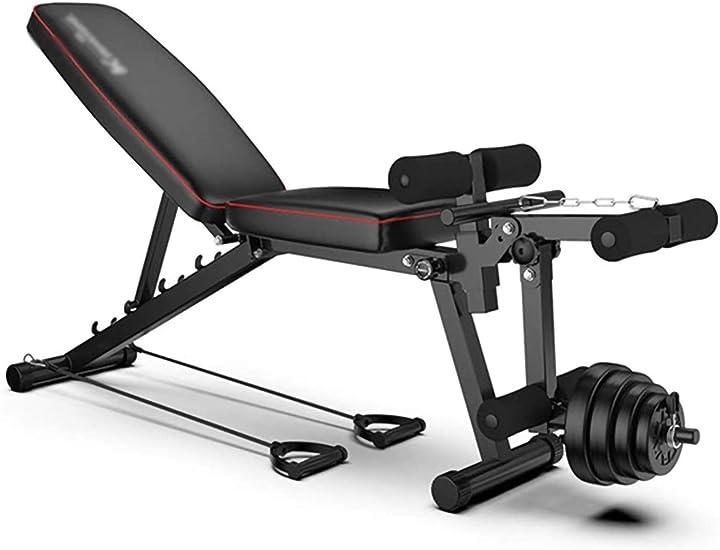 Panca pieghevole per allenamento completo - gambe - spalle - petto - braccia - addominali by raincoat B08P8PSG7R
