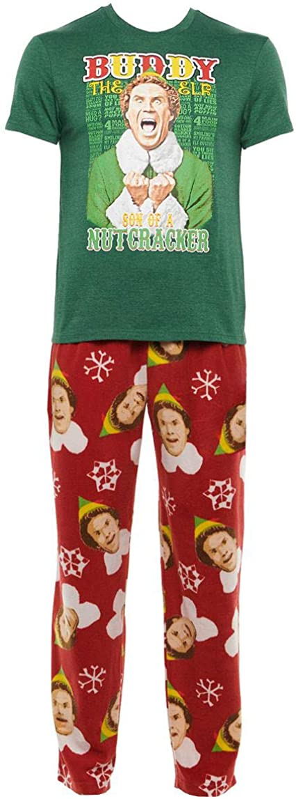 Buddy the Free Shipping Cheap sale Cheap Bargain Gift Elf Son of a Pajama X-Large Red Set Boxed Nutcracker