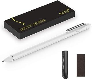 Abida タッチペン 極細 スタイラスペン iPad iPhone対応 スマートフォン タブレット 専用 スタイラスペン 日本製優れたペン先 高感度 ツムツム 軽量 充電式 5分間自動オフ タッチペン お絵描き (白)