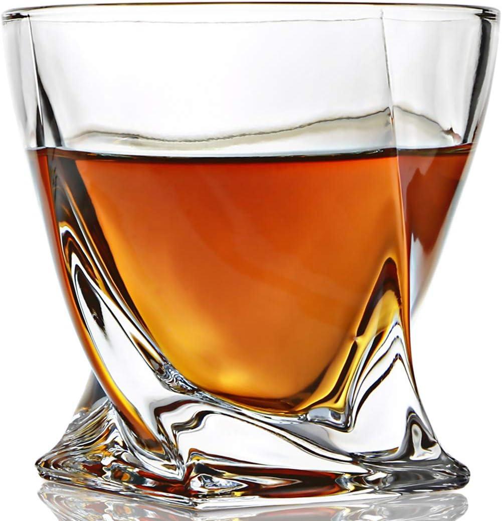 New item ELIDOMC Whiskey Glasses Set of 4 Very popular 10 for OZ