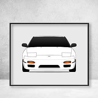 Nissan 240SX S13 JDM Nismo Poster Print Wall Art Decor Handmade