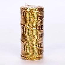1.5mm 100M Macrame Koord Touw Lint Ambachten DIY Goud Zilver Touw String voor Naaigaren Twisted Draad Thuis Textiel Decora...