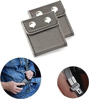 Seatbelt Adjuster, FAOTUR Comfort Seat Belt Covers, Universal Auto Shoulder Neck Protector Strap Positioner Locking Clip for Adults/Kids - 2 Pack Grey
