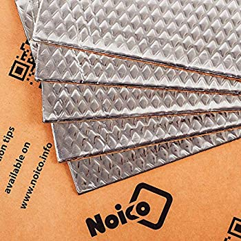 Noico 80 mil 5 sqft Car Sound Deadening Mat Butyl Automotive Sound Deadener Audio Noise Insulation and Dampening