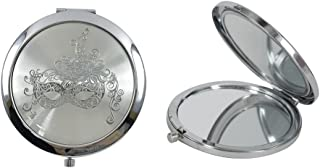 12 Pcs Masquerade Mask Compact Mirrors - Quinceanera/Sweet 16 (White)