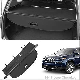 Autoxrun Cargo Cover Fits 2014-2018 Jeep Cherokee Trunk Shielding Shade Black