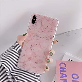iPhone CASE-Epoxy Marble Road Mobile Shell Cute Light Pink Women's All-Inclusive Drop Protection Cover for Iphone6/6s (Color : Light Pink, Size : IPhoneXS MAX)