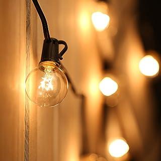 Guirnalda Luces Exterior,Tomshine 7.62M Cadena de Luz,G40 Guirnaldas Luminosas de Exterior con 25 Blanco Cálido Bombillas,IP44 Impermeable para Jardín Trasero Fiesta Navidad(3 Bombillas de Repuesto)