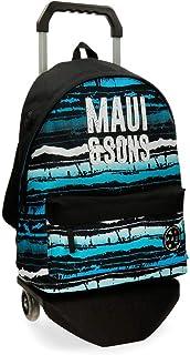 Maui and Sons Waves Mochila con Carro Multicolor 31x42x17,5 cms Poliéster 22.79L