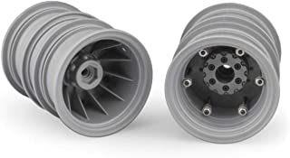 J Concepts Inc. Krimson Dually 2.6 Dual Wheels with Adapters, Gray/Silver (2), JCO3388S