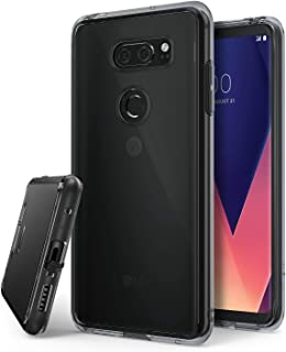 Ringke Fusion Compatible with LG V30 ThinQ Case, Scratch Protection Phone Cover for LG V30 ThinQ, V30 Plus - Smoke Black