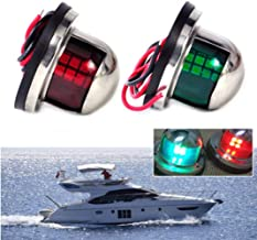 12V LED Marine Boat Yacht Light,New Marine Sailing Lights for Bow Side,Port, Starboard, Pontoons, Chandlery Boat, Yacht, Skeeter (Green & Red)