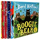 David Walliams Collection 5 Books Set (The first hippo on the moon, the bear who went boo, there's a snake in my school, boogie bear, the slightly annoying elephant)