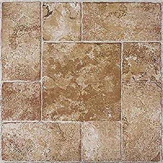 Achim Home Furnishings FTVMA42020 Nexus 12-Inch Vinyl Tile, Marble Beige Terracotta, 20-Pack