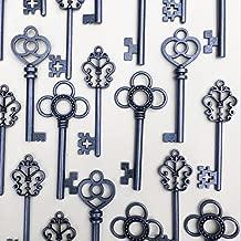Salome Idea Mixed Set of 30 Large Skeleton Keys - Set of 30 Keys (Gunmetal Black Color)