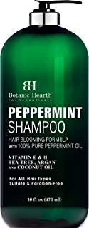 BOTANIC HEARTH Peppermint Oil Shampoo - Hair Blooming Formula with Keratin for Thinning Hair - Fights Hair Loss, Promotes ...