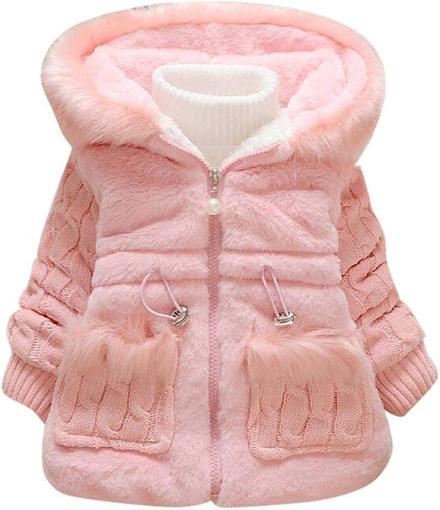 Kantenia Toddler Polar Fleece Jacket Hooded Baby Boys Girls Autumn Winter Long Sleeve Thick Warm Outerwear
