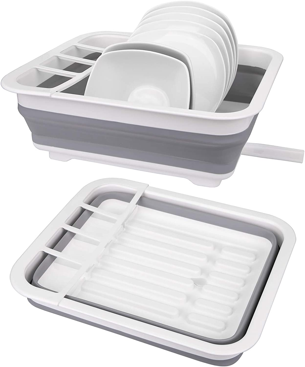 Nicunom Collapsible Dish Drying with famous Rack specialty shop Drainer Portable