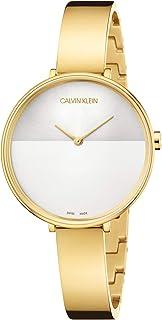 Calvin Klein Rise Quartz Silver and White Dial Ladies Watch K7A23546