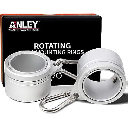 "2pcs Flag Pole Mounting Ring Rotating Flagpole Mounting Rings for 1/""Flagpoles"