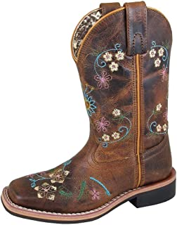 Girls' Floralie Western Boot Square Toe