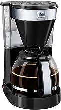 Melitta Easy Top 1023-04, filterkaffemaskin med glaskanna, kompakt rostfritt stål design, svart, plast