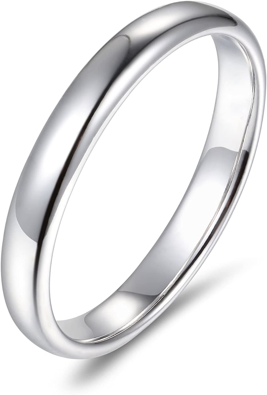 Max 85% OFF Lamrowfay Plain Comfort-fit Weekly update 14K 3mm Wedding Gold Band