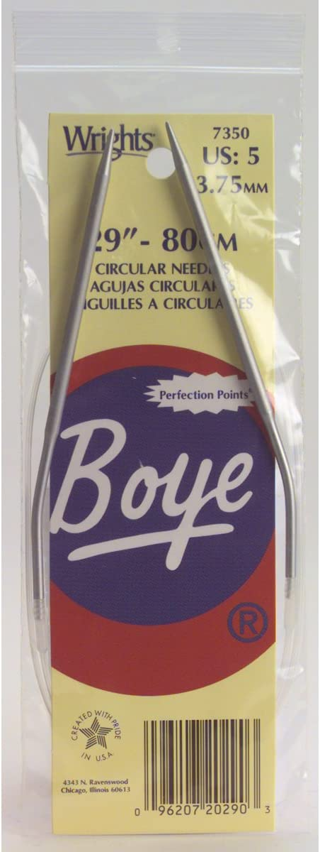 Boye 29-Inch Aluminum Circular 9 Needles Free shipping anywhere in the nation Size Knitting Deluxe