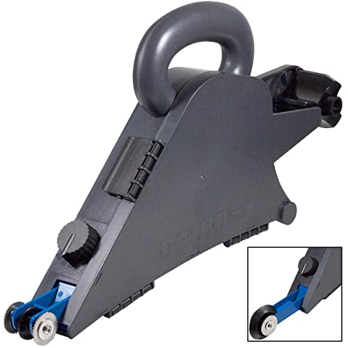 Delko Plastic Drywall Banjo Taper - Handheld Remodelers Taping Tool with Internal Corner Applicator Creaser Wheel