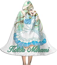 Kotori Minami Love Live School Idol Project Music Unisex Kids Hooded Cloak Cape Halloween Christmas Party Decoration Role Cosplay Costumes Outwear Black