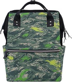DEZIRO DEZIRO Rucksack/Reisetasche aus Segeltuch, Camouflage-Muster