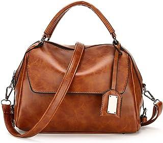 JINIU Women's Handbag Large Capacity High Quality PU Metal Pendant Girls' Fashion Shoulder Bags
