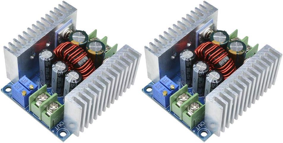 Diymore 2pcs 20A 300W CC CV Step Down Module Adjustable DC 6-40V to 1.2-36V Voltage Regulator Buck Converter Constant Current Power Supply Module