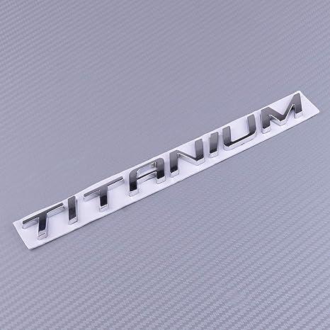 Beler Chrome Badge Emblem Aufkleber Titanium Auto